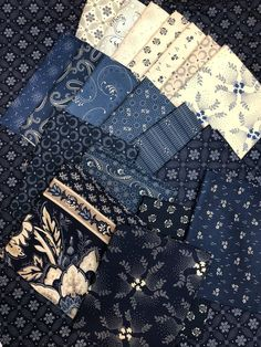 19 fat quarters of Mood in Blues by Paula Barnes for Marcus Fabrics Blue Quilts, Fat Quarters, Quilt Patterns, City Photo, Mood, Sewing, Fabric, Vintage, Ideas