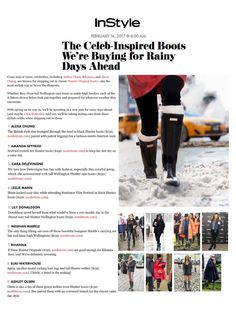 The Original Tall Boot and The Original Short Boot featured on In Style.com