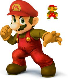 8-bit inspired alternate colors for Mario - Super Smash Bros, 4 by kantoskies