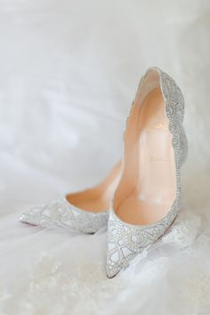 "everythingsparklywhite: "" Christian Louboutin Shop similar: 1 / 2 / 3 "" Christian Louboutin, Bridal Wedding Shoes, Bridal Heels, Wedding Blog, Wedding Pumps, Decor Wedding, Wedding Gifts, Fairytale Weddings, Slippers"