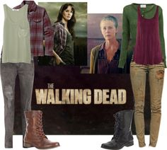 Lovely Undergrad: TV Show Halloween Inspiration - The Walking Dead Walking Dead Clothes, Walking Dead Costumes, The Walking Dead, Zombie Apocalypse Outfit, Post Apocalyptic Fashion, Fandom Outfits, Hiking Pants, Themed Outfits, Halloween Costumes