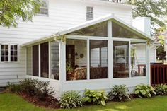 Sunroom idea this one looks a lot how my grandmothers was...we played for hours in.