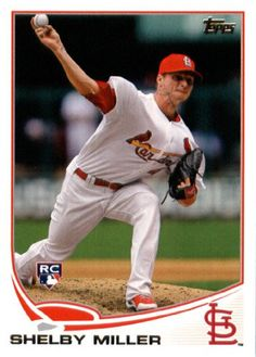 2013 Topps Baseball #305 Shelby Miller Rookie St. Louis Cardinals