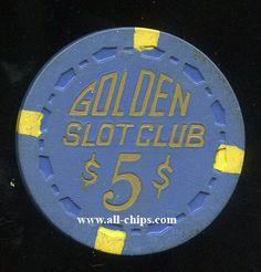 #LasVegasCasinoChip of the day is a $5 Golden Slot Club you can get here https://www.all-chips.com/ChipDetail.php?ChipID=18347 #CasinoChip #LasVegas