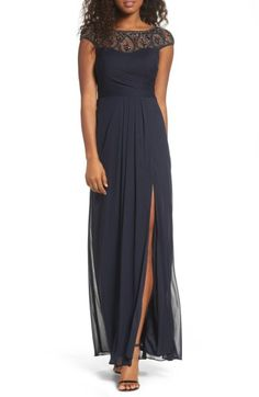 ff5aad58 Free shipping and returns on Xscape Beaded Mesh Gown (Regular & Petite)  at
