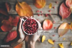 Stock Photo : A cup of pomegranate