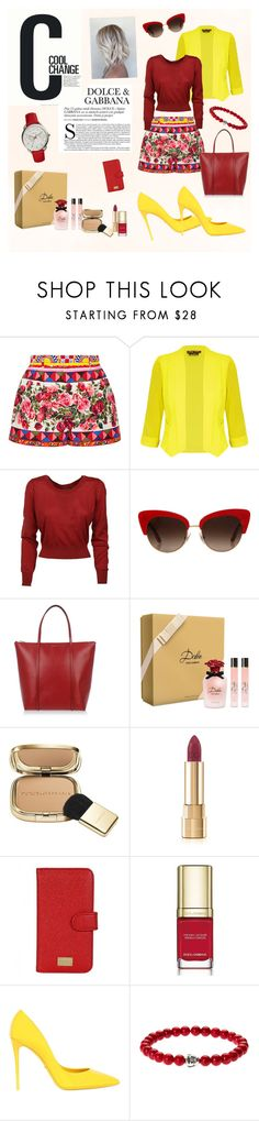 """""""Dolce&Gabbana set"""" by suljic-melika ❤ liked on Polyvore featuring Cool Change, Dolce&Gabbana, City Chic, FOSSIL, dolceandgabbana and plus size clothing"""
