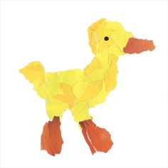 Torn Duck Collage | Art Projects for Kids. Tear colors from old magazines and glue to make a collage.