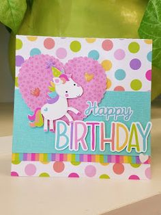 Fairy Tales Collection: Handmade Cards with Tya Cricut Birthday Cards, Unicorn Birthday Cards, Girl Birthday Cards, Cricut Cards, Handmade Birthday Cards, Greeting Cards Handmade, Unicorn Cards, Birthday Presents, Card Sketches