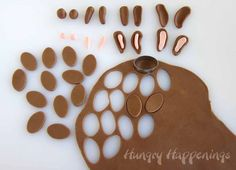 How to cute and shape modeling chocolate Easter bunny ears and feet.