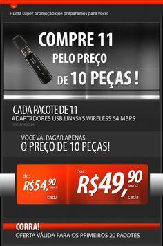 E-mail marketing para promoção do roteador Wireless.