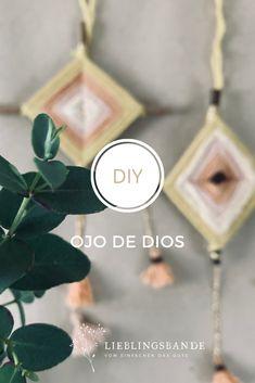 Ein einfaches, wunderbares DIY - liebevolle Gedanken mit Wolle gewickelt.