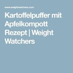 Kartoffelpuffer mit Apfelkompott Rezept   Weight Watchers