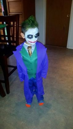homemade joker and two face costums halloween costume contest costume contest and halloween costumes - Joker Halloween Costume Kids