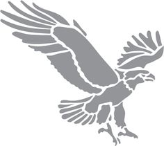 Glass etching stencil of Flying Eagle. In category: Birds of Prey