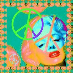 Peace Sign Marilyn