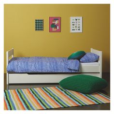 PONGO Kids' white EU single trundle bed with guest mattress | Buy now at Habitat UK
