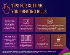 Tips for cutting your heating bills.   greatstuff.dow.com   #TIps #EnergySaving