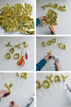 Step By Step DIY Tutorial - Mini Mini Mylar Letter Balloons - Cake Toppers - Decorative Festive Table Numbers As Well! Step By Step DIY Tutorial - Mini Mini Mylar Letter Balloons - Cake Toppers - Decorative Festive Table Numbers As Well! Diy Party Decorations, Balloon Decorations, Birthday Decorations, Party Crafts, Photobooth Ideas, Mylar Letter Balloons, Mini Balloons, Foil Balloons, Balloon Cake