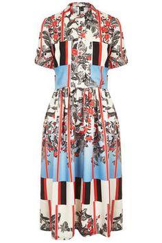 Oriental Trelis Midi Dress - Dresses  - Clothing