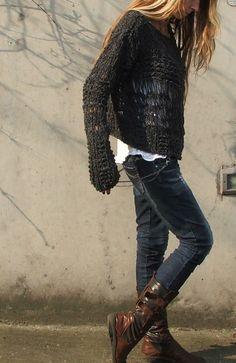 grigio+ardesia+sovradimensionato+maglione+grunge+LTd+di+ileaiye,+$100.00