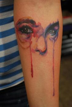 water color eyes tat