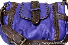 Gorgeous Purple Leather Bag by Scanlan & Theodore