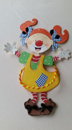 Fensterbild Clown Mädchen von Werkstatt mit Esprit auf DaWanda.com