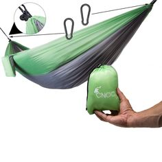 CNOC Comfortable Double Hammock made of parachute silk from I Outdoor Camping hammock weatherproof, stable with over 300 kg load capacity I Hammock travel mats camping accessories I travel gadgets Family Camping, Tent Camping, Camping Gear, Camping Gadgets, Travel Gadgets, Camping Accesorios, Washing Clothes, Trekking, Baseball Hats