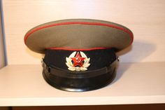 Vintage  Army Cap Soviet military ,  Military Hat Cap, Hat Russia Army, Soviet soldier,  Soviet  Military Hat Cap Size 53  1980s USSR