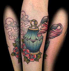 Perfume bottle by tattoo artist Myra Brodsky.