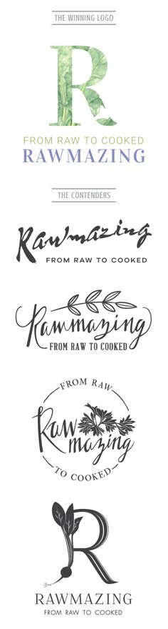 Rawmazing is a beautiful lifestyle/photography/food blog that came to us for full packaged deal (Branding/Identity and Website). Using elements you would find in nature and healthy eating, we came up with the most perfect Logo for her company. Want to check out more of our work? Head over to www.artsygeek.com/portfolio and we won't disappoint you!
