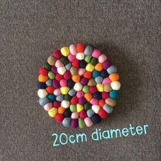 Placemat - NZ wool felt ball 20cm