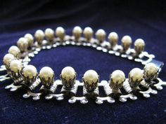 Vintage Silver Tone Bookchain Bracelet with by ToadSuckTreasures