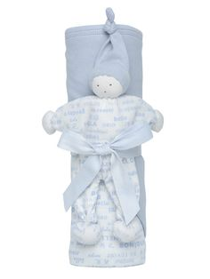 """Blue Hooded Blanket Gift Set 