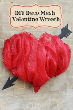 Miss Kopy Kat: Make A Deco Mesh Valentine Wreath. Precious!