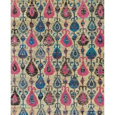 The radiant Giselle Collection is hand knotted entirely of refurbished sari silks from India. Each design reverberates in stunning colors like ruby red and sapphire blue that make for an incredibly vibrant collection, ideal for contemporary to transitional interiors.  Available in multiple sizes  Country Origin: China Material: Sari Silk Construction: Hand Knotted