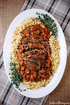 Barefoot Contessa's Company Pot Roast. A foolproof, crowd pleaser pot roast recipe that will not disappoint. #potroast #recipe #dinner