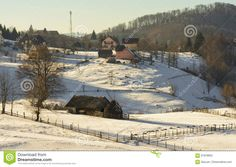 Winter Alpine Scenery In Fundata, Brasov, Romania - Download From Over 59 Million High Quality Stock Photos, Images, Vectors. Sign up for FREE today. Image: 91878855