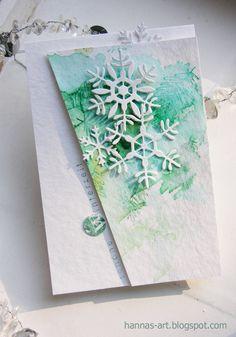 Hannas Art: Aquarelliges Xmas Cards, Diy Cards, Holiday Cards, Christmas Paper, Handmade Christmas, Christmas Crafts, Scrapbooking, Scrapbook Cards, Winter Karten