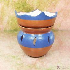 """""""TAVIRÓZSA"""" aromalámpa * kerámia - kék és natúr Planter Pots"""