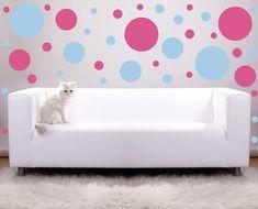 Large size Polka Dots vinyl wall decals by Vinyltastic on Etsy, $20.00