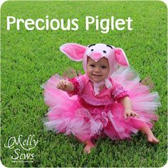 DIY Halloween DIY Costumes :DIY Baby Girls Halloween Costumes : Handmade Costume Series: DIY Piglet Costume Tutorial  Free Pattern