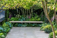 Tady mne zaujalo především to, jak je krásně využitý i prostor pod lavičkou (nejspíš je nutné tyto rostliny více zalévat, aby netrpěly suchem).