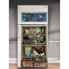 ZOMBIE REFRIGERATOR HALLOWEEN Party Decoration Scene Setter Wall DOOR COVER FOOD * Details can be found by clicking on the image.