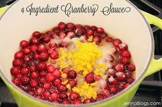 4 Ingredient Cranberry Sauce