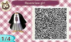RAVENCLAW GIRLS OUTFIT. HARRY POTTER. HP. ANIMAL CROSSING NEW LEAF. QR CODE. ACNL. PINNED BY Stephy Sama