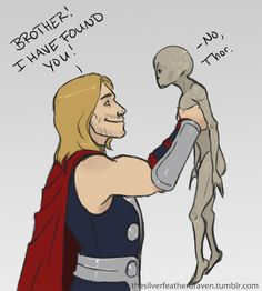 HAHAHAHAHAHA. This is the most hilarious crossover ever. (SG1's Loki with Thor.)