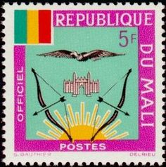 Stamp: Mali Coat of Arms (Mali) (Mali Coat of Arms) Mi:ML Colnect, connecting collectors. Only Colnect automatically matches collectibles you want with collectables other collectors swap. Colnect collectors club revolutionizes your collecting experience! Stamp Collecting, My Stamp, Coat Of Arms, Postage Stamps, Childhood, History, African Animals, Birds, King