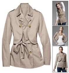 Convertible Trench Jacket - So cool!  AVON - Product